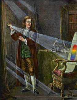 Newton is analyzing the light line